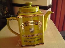 RINGTONS HERITAGE COLLECTABLE TEAPOT IN OLIVE GREEN/GOLD. VGC, FREE-MAILING.