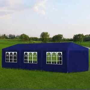 vidaXL Party Tent 3x9m with 8 Walls Blue Patio Garden Gazebo Marquee Pavilion