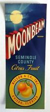 Moonbeam Brand Seminole County Citrus Fruit Crate Label Nelson & Co. Oviedo, Fl