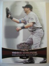 2006 TOPPS TRIPLE THREADS TODD HELTON , # 40 ROCKIES      BOX # 18