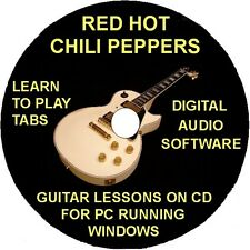 Red Hot Chili Peppers 134 Guitar Tab Software Lesson CD,47 Backing Track & Bonus