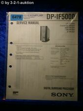 Sony Service Manual DP IF5000 Digital Surround Processor (#6478)
