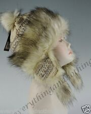 Wool Faux Fox Fur Winter Mongolian Hat Ushanka Trapper Russian Style Hat