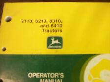 John Deere Tractor Operator'S Manual 8110,8210,8310,8410 Tractors Issue K9