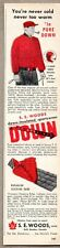 1956 Vintage Ad S.E. Woods Down Jacket Voyageur Sleeping Robe Hull Quebec Canada