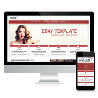 Ebay Template Ebayvorlage Responsive Vorlage Design 2019 Rot | Slider SSL HTTPS