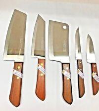 5pcs Thai Kiwi Brand Knives Wood Handle Kitchen Blade Stainless- Free Shipping