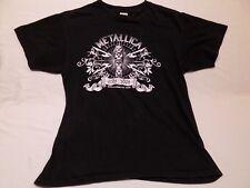 L METALLICA Anvil Concert Tshirt 2008 2009 World Magnetic Tour Black Shirt Large