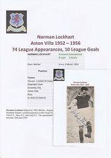 Norman Lockhart ASTON VILLA (1952-1956 rara mano originale firmato RIVISTA taglio