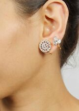 784 Indian Bollywood Crystal Stone Gold Plated Ethnic Earrings Indian Jewelry
