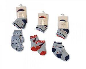 Baby Socks Boys - 3 pairs - Cotton Rich - 2096