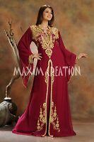 DUBAI VERY FANCY EID KAFTAN abaya jalabiya Ladies Maxi Dress Wedding gown 3471