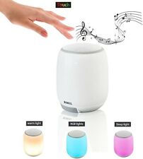 Night Light Bluetooth Speakers, Portable Touch Control Bedside Table Lamp, Color