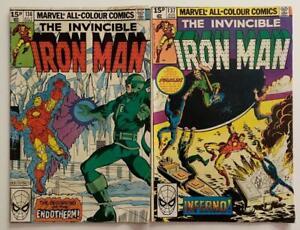 Iron Man #136 & #137 (Marvel 1980) VG+ Bronze Age issue