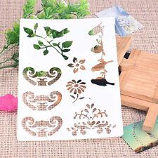 Bird Flower Plastic ReusableTemplate Stencil Spray Paint Mould Wall Furniture