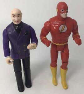 """Vintage DC Comics: 1989 Lex Luthor & 1990 The Flash 5"""" Action Figures Lot"""