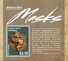 Micronesia- Masks Stamp - Souvenir Sheet MNH