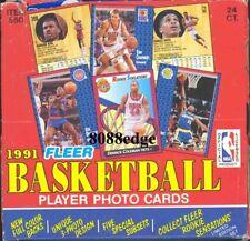 1991-92 91-92 FLEER SERIES 1 NBA CELLO BOX: ROOKIE SENSATIONS + MICHAEL JORDAN !
