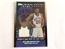 02-03 Topps Jersey Edition Allan Houston Black /99 Basketball Card