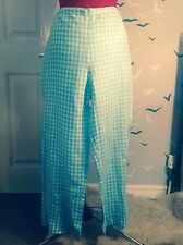 Stylish BODEN Check vintage 50s style linen trousers, 14 L, worn once