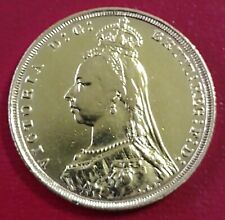 More details for 22ct gold sovereign coin queen victoria 1893