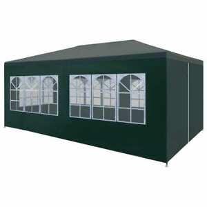 vidaXL Party Tent 3x6m Green Outdoor Garden Gazebo Marquee Canopy Shelter