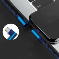 USB Cable Type_C Interface 90 Degree Angle Fast Charge Mobile Phone Data Cable