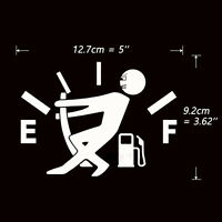 Funny Pull Fuel Tank Pointer To Full Hellaflush Vinyl Car Sticker Decal White