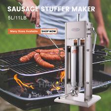 Hakka 11lb5l Sausage Stuffer 2 Speed Vertical Stainless Steel Meat Filler Maker