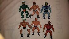 6 Masters of the Universe Lot Skeletor, Mer-man, Fisto, Zodac, Tri-Klops, Jitsu