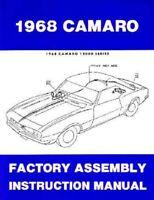 1968 Chevrolet Camaro RS SS Z28 Assembly Shop Service Repair Manual Illustration