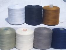 7 Spools DENIM Stitching 100% POLY THREAD - 7 different Colours, RRP £30.00