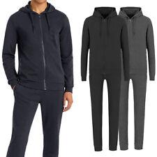 Tuta Uomo Invernale Felpa +Pantalone Maglia con Zip Cappuccio Sport VEQUE
