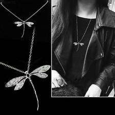 Silver Dragonfly Pendant Necklace with Chain Fashion Jewelry Gift
