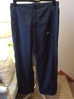 """NIKE Sportswear Grey Wet Gear Trousers Pants Size UK 14/16 L32"""" Drawstring Golf"""