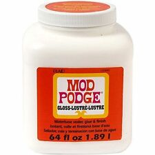 MOD PODGE GLASS TRANSPARENT  64 oz WATERBASE SEALER, GLUE & FINISH 15091