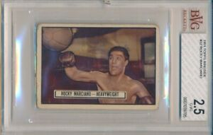 1951 Topps Ringside Rocky Marciano Rookie Card #32 BVG 2.5
