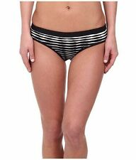New Women's Shoshanna Banded Combo Black Striped Bikini Bottom Size Small