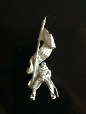 Warhammer Lord of The Rings LOTR - Rohan Banner Bearer Mounted Metal OOP