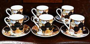 12 PCS Ceramic Coffee Tea Cups & Saucers & Gift Box Wedding Birthday Gift