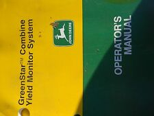 John Deere Operators Manual for Greenstar Combine Yield Monitor System