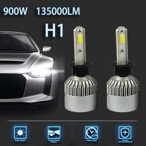 2 Pcs H1 900W 135000LM Car LED Headlight Bulbs Conversion COB kit 6500K White