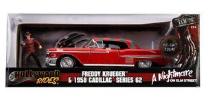 Hollywood Rides Cadillac Series 62 with Freddy Krueger Figure 1:24 (Jada 31102)