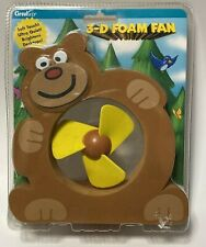 Circulair 3-D Foam Table Desk Fan Dog 3040 Battery Operated NEW Free Shipping