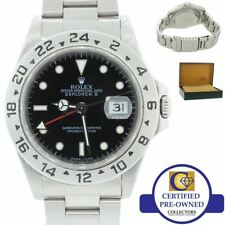 Rolex Explorer II 16570 Stainless Steel Black GMT 40mm U Oyster Date Watch w Box