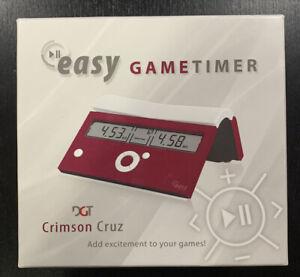 New DGT Easy Game Timer and Chess Clock - Crimson Cruz