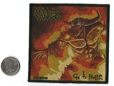 """Vader Go To Hell Death Metal Band Sew On Woven Patch 4 """"X 4"""""""