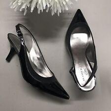 Ann Klein Black Heel Shoe Strappy Sandal Heels Womens Size 8.5 M w/ Box