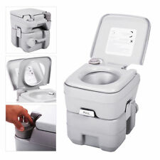 Portable Toilet 5 Gallon 20L Flush Travel Camping Commode Potty Outdoor&Indoor