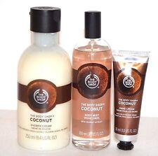 The Body Shop COCONUT Shower Cream + Body Mist + Hand Cream New